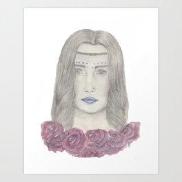 Festival girl Art Print