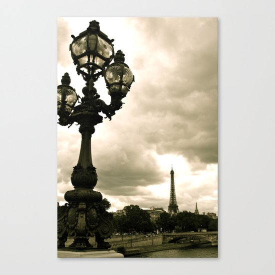 A Night In Paris Canvas Print