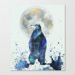 Bear Down The Stars Canvas Print