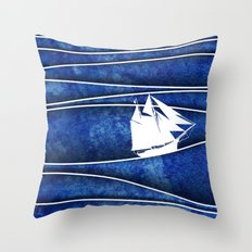 The Lonely Sea Throw Pillow