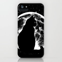 Cat Moon Silhouette iPhone Case
