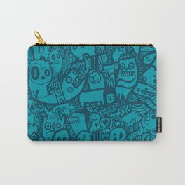 Blue Doodle Carry-All Pouch