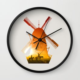 Fighting Giants (light version) Wall Clock