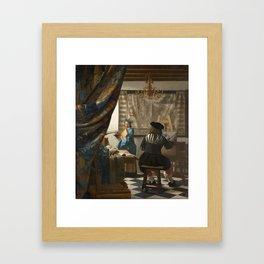 """Johannes Vermeer """"The Art of Painting"""" Framed Art Print"""