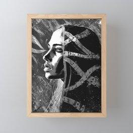 Fiona Apple b&w Framed Mini Art Print