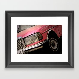 Pink Benz Framed Art Print