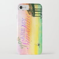 you are my sunshine iPhone & iPod Cases featuring Sunshine by Jacob Thomas
