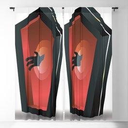 Horror coffin Blackout Curtain