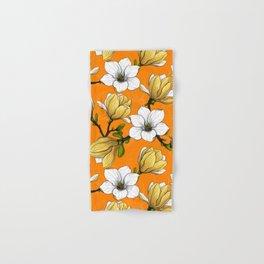 Magnolia garden in yellow Hand & Bath Towel