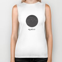 aquarius Biker Tanks featuring Aquarius by snaticky