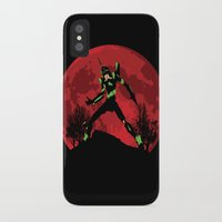 neon genesis evangelion iPhone & iPod Cases featuring Neon Genesis Evangelion Unit 01 - Hill Top by kamonkey