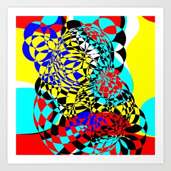 Color Bomb  Art Print