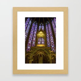 Stained Glass Sainte-Chapelle Framed Art Print