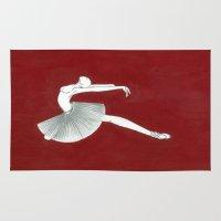 ballerina Area & Throw Rugs featuring Ballerina by Nadina Embrey - Artist / Illustrator