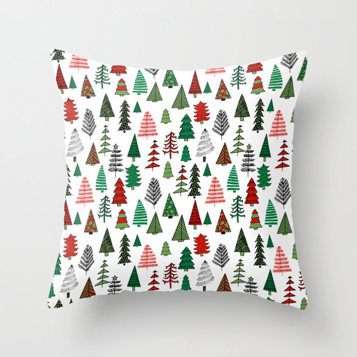 Christmas Tree Forest Minimal Scandi Patterned Holiday Forest Winter