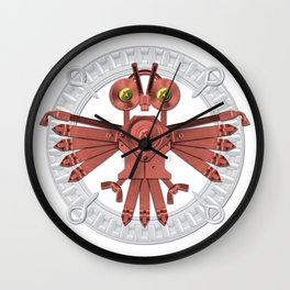 Red Owl Talisman Wall Clock