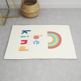 Be Kind Rainbow Rug