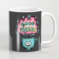good morning Mugs featuring Good Morning! by Anna Alekseeva kostolom3000