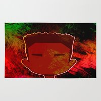 kendrick lamar Area & Throw Rugs featuring Kendrick Chibi by UnifiedGlory