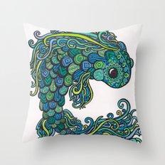 Swish Fish Throw Pillow