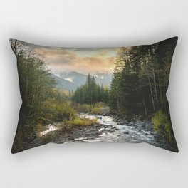 The Sandy River I - nature photography Rectangular Pillow