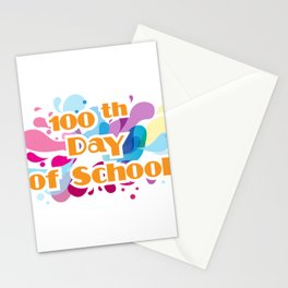 100th Day Of School For Teachers Administrator Child Stationery Cards