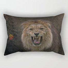 beware of the cat Rectangular Pillow