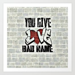 Graffiti Lyrics Art Print