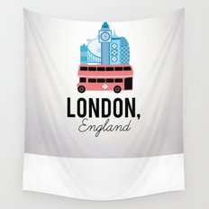 London, England Wall Tapestry