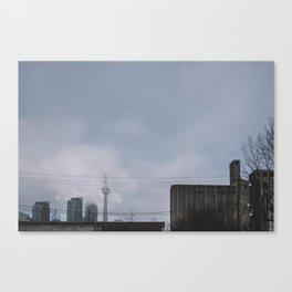 Street Style minimalist Toronto CN Tower Canvas Print