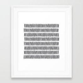 Classy Handpainted Stripes Pattern, Scandinavian Design Framed Art Print