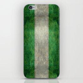 National flag of Nigeria, Vintage textured version iPhone Skin