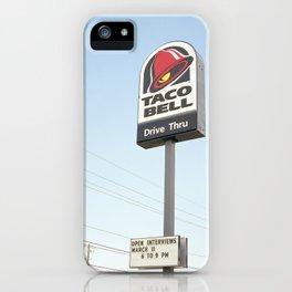 Taco Bell Drive Thru iPhone Case