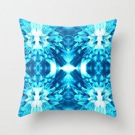 Dandelions Brilliantblue Throw Pillow