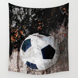 The soccer ball Wall Tapestry