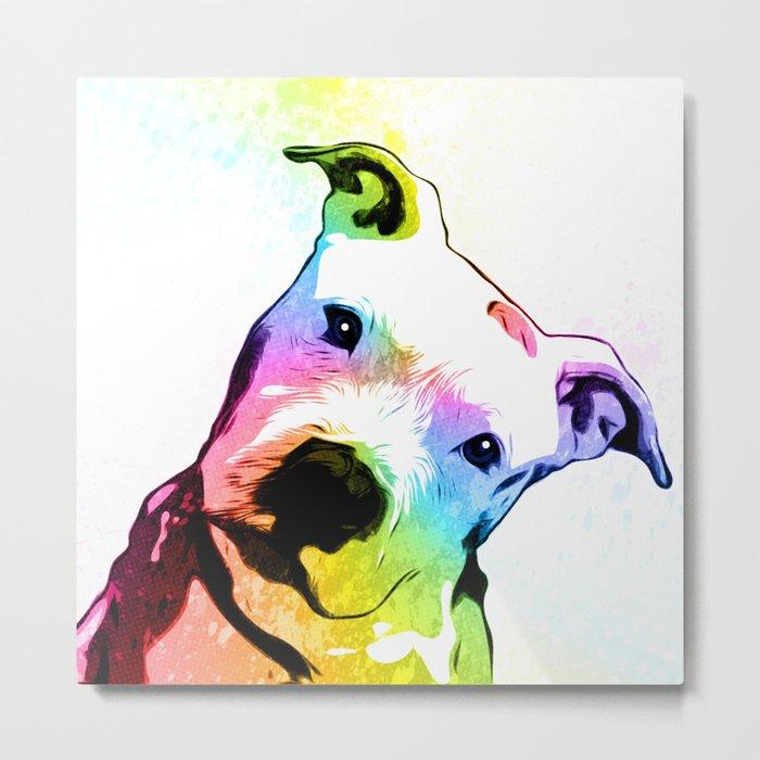 Pit bull | Rainbow Series | Pop Art Metal Print