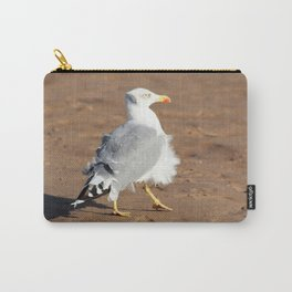 Seagull in a windy day with ruffled feathers Carry-All Pouch