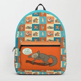 Colourful lemur pattern Backpack