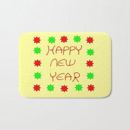 happy new year 3 Bath Mat
