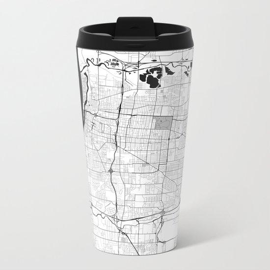Memphis Map Gray Metal Travel Mug
