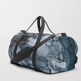 Dark Payne's Grey Flowing Abstract Painting Duffle Bag