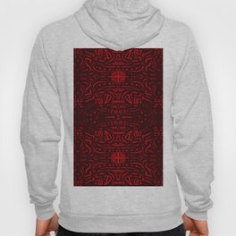 Red decorated Hoody