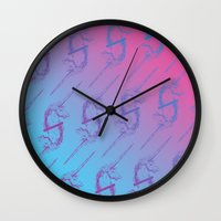 unicorns Wall Clocks featuring Unicorns by very giorgious