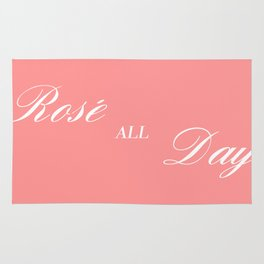 rose all day Rug