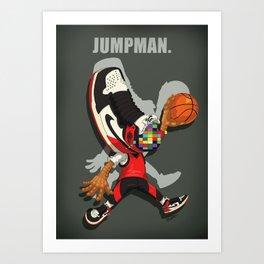 THE JUMPMAN Art Print