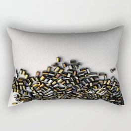 Someone Spilled the Glass Beads Rectangular Pillow
