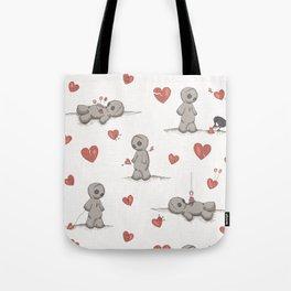 Broken hearted Voodoo Dolls Tote Bag