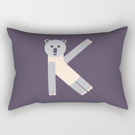 Letter K // Animal Alphabet // Koala Monogram Rectangular Pillow