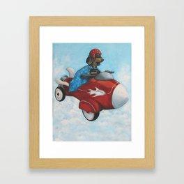 Elvis Flies for K9 Air Framed Art Print