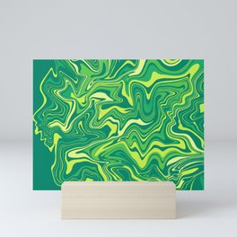Green Nature Liquid Agate Mini Art Print
